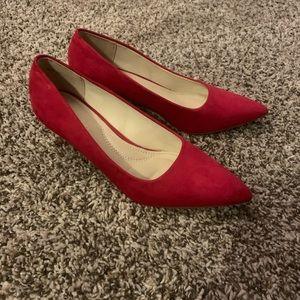 Red low heels